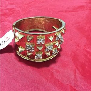 """GUESS WomeN""""s Bracelet Gold- toneW/ white Chrystal"""